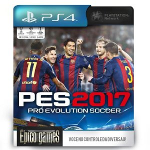 PES 2017 - Pro Evolution Soccer - Dublado - PS4 - Midia Digital