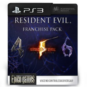 Resident Evil Franchise Pack - 4, 5 e 6 - PS3 - Midia Digital