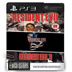 Resident Evil 1, 2 e 3 - Trilogia - PS3 - Midia Digital