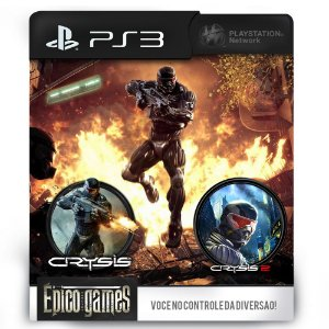 Crysis 1 e 2 - PS3 - Midia Digital