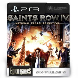 Saints Row IV National Treasure Edition - PS3 - Mídia Digital