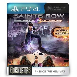 Saints Row Re-Elected & Gat Out of Hell - PS4 - Mídia Digital