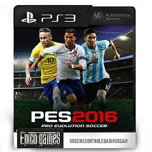 PES 2016 - Pro Evolution Soccer - PS3 - Midia Digital