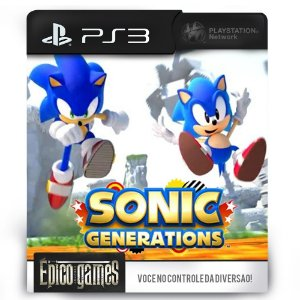 Sonic Generations - PS3 - Midia Digital