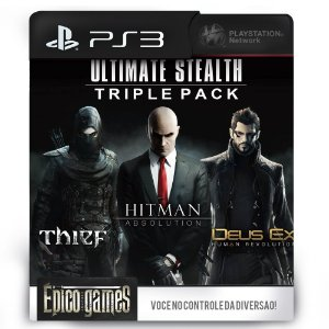 THIEF + HITMAN ABSOLUTION + DEUS EX HUMAN REVOLUTION - PS3 - Midia Digital