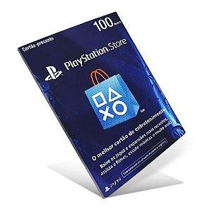 Cartão PSN - R$ 100 PlayStation Network Card - BRASIL