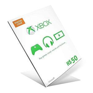 Cartão Presente Xbox Live R$50 Gift Card - BRASIL