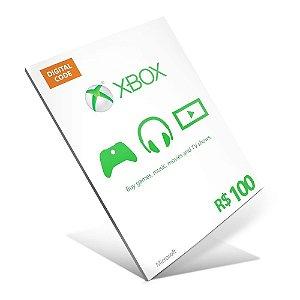 Cartão Presente Xbox Live R$100 Gift Card - BRASIL