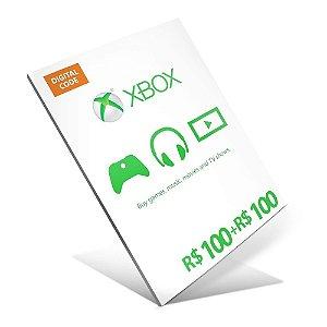 Cartão Presente Xbox Live R$200 (R$100 + R$100) Gift Card - BRASIL