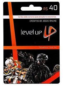 Cartão Level Up Games R$ 40 - BRASIL