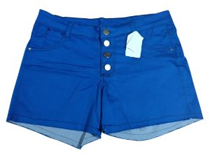 Shorts Hot Pants Feminino Jeans Colorido Plus Size