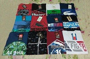 KIt 10 Camisetas Masculina Multimarcas Frete Grátis