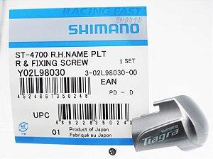 Placa do Visor STI Shimano Direita Tiagra ST-4700 com Parafuso - Y02L98030