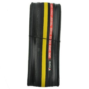 Pneu Vittoria 700x23 Open Corsa Kevlar CX Preto com Amarelo