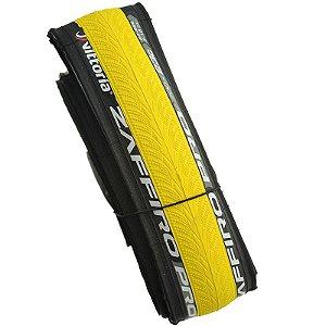 Pneu Vittoria 700x23 Zaffiro Pro Kevlar Preto com Amarelo