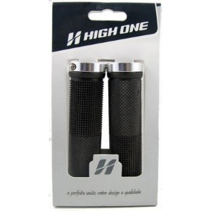 Manopla High One Bike 130mm Com Trava Prata