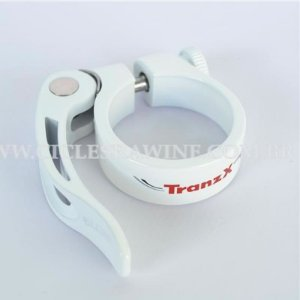 Abraçadeira de Selim com Blocagem 34.9mm Tranz-X Branco