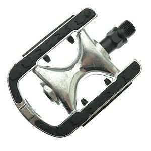 Pedal Alumínio Emborrachado Feimin FP-920 Preto 9/16