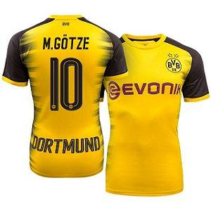 Camisa Borussia Dortmund Alemanha Home 17/18 -M.GOTZE Nº 10