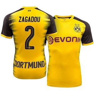 Camisa Borussia Dortmund Alemanha Home 17/18 -ZAGADOU Nº2