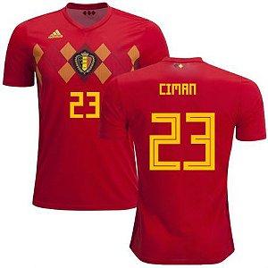 Camisa Adidas Seleção da Bélgica Home 2018/2019-Ciman Nº23