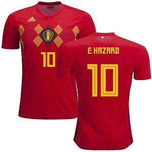 Camisa Adidas Seleção da Bélgica Home 2018/2019-Hazard Nº10