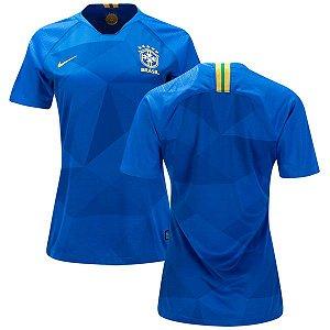 Camisa Feminina Seleção do Brasil Away 2018/2019-S/N°