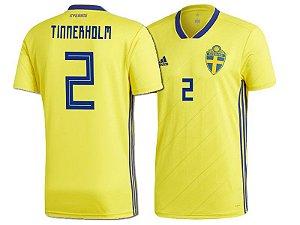 Camisa Seleção da Suécia Home 2018/2019-Tinnerholm Nº2
