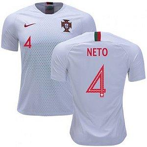 916155408f Camisa Feminina Seleção de Portugal AWAY 2018 2019-Neto N°4 - Amo ...