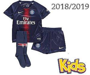 kit Infantil Paris Saint Germain Psg HOME 2018 2019-S Nº f4a115ba119fa