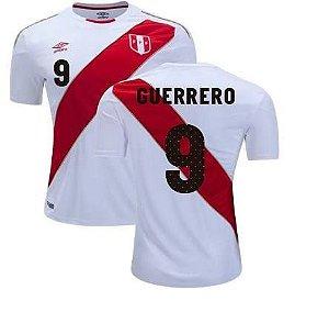 2d4031e358d22 Camisa Seleção do Peru Home 2018 2019-Guerrero Nº9
