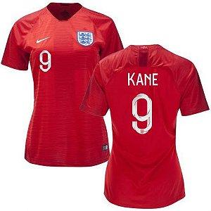 Camisa Feminina Seleção da Inglaterra 2018/2019- Kane N°9