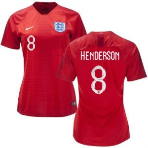 Camisa Feminina Seleção da Inglaterra 2018/2019-Henderson N°8
