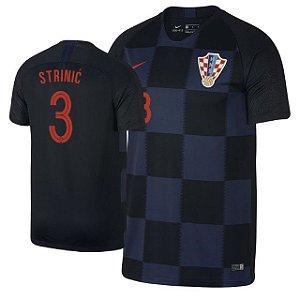 Camisa Seleção da Croacia Away 2018/2019-Strinic Nº3