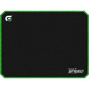 Mousepad Gamer Fortrek Speed Preto e Verde 440x350mm MPG102
