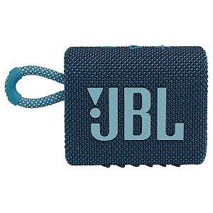 Caixa de som JBL GO 3 portátil - Azul