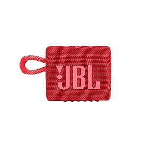 Caixa de som JBL GO 3 portátil - Vermelha