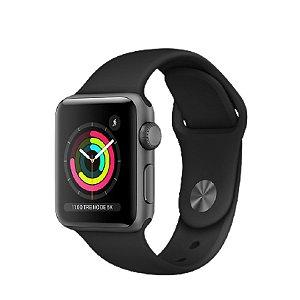 Apple Watch Serie 3 38mm Cinza Espacial Pulseira Preta