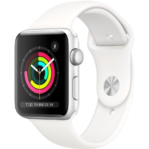 Apple Watch - Serie 3 - 42mm - Silver Aluminum White Sport