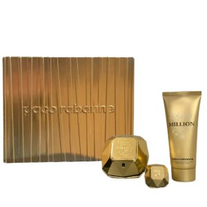 Kit Lady Million 80ml + Perfume 5ML + Loção Corporal 100ml