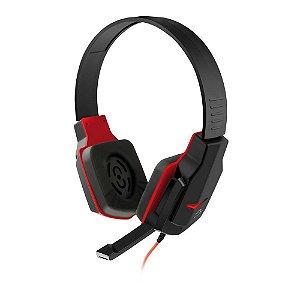 Headset Gamer Multilaser Preto e Vermelho PH073