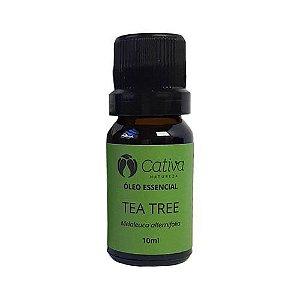 Óleo Essencial de Tea Tree Orgânico Natural e Vegano 10 ml - CATIVA NATUREZA