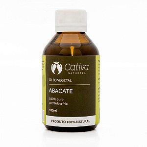 Óleo Vegetal de Abacate Natural Orgânico e Vegano 100 ml - CATIVA NATUREZA