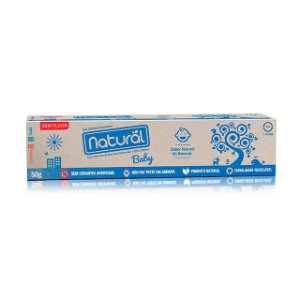 Gel Dental Natural Baby com Extratos de Banana e Erva Cidreira 50g - SUAVETEX