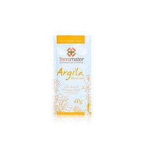 Máscara de Argila Orgânica Dourada Remineralizante 40g - TERRAMATER
