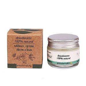 Desodorante Natural com Melaleuca 33g - Vegano e Natural - Ares de Mato