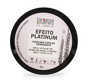 Máscara Capilar Hidratante Efeito Platinum - 200g Vegana e Natural - TWOONE ONETWO