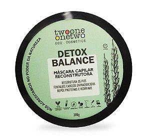 Máscara Capilar Reconstrutora Detox Balance - 200g Vegana e Natural - TWOONE ONETWO