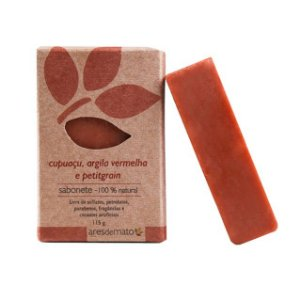 Sabonete de Cupuaçu e Argila Vermelha para Pele Madura 115g - Vegano e Natural - Ares de Mato