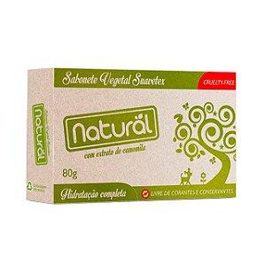 Sabonete Vegetal com Extrato Orgânico de Camomila 80g - NATURAL SUAVETEX